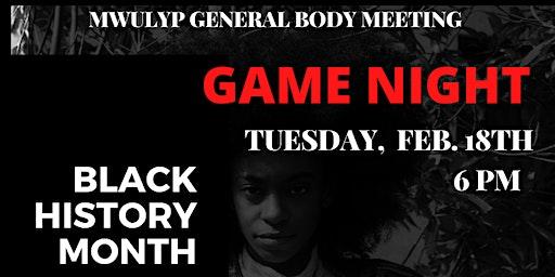 Black History Month Game Night