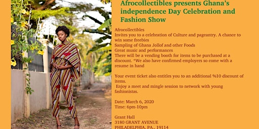 Afrocollectibles Spring Fashion Show and Cultural Nite