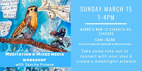 Meditation & Mixed Media Art Workshop with Sancha Prowse tickets