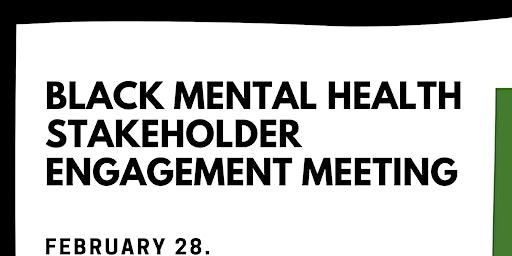 Black Mental Health Stakeholder Engagement Meeting