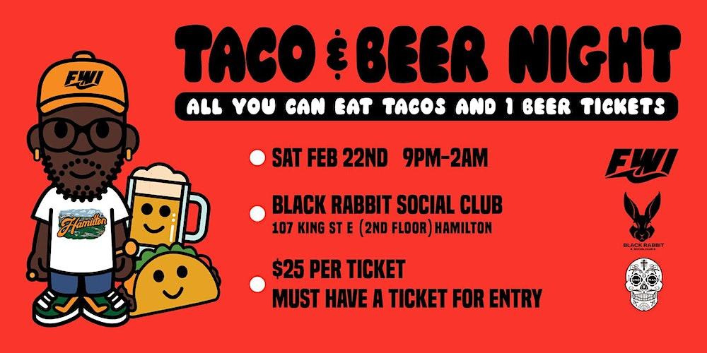 TACO & BEER NIGHT Tickets, Sat, 22 Feb