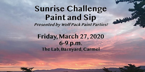 Sunrise Challenge Paint and Sip