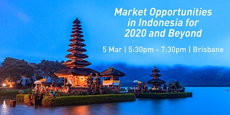Market Opportunities in Indonesia for 2020 and Beyond tickets