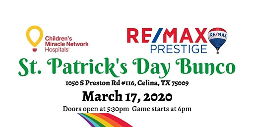 St. Patrick's Day Bunco Fundraiser benefiting Children's Miracle Network