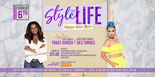 """Style Your Life"" Happy Hour Mixer"