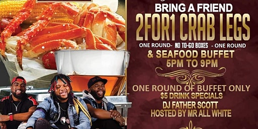 "RSVP for ""One Round"" of the 2 for 1 Friday Buffet Courtesy of Monticello or Pay $25 for All You Can Eat- Seating is 1st Come 1st Serve"