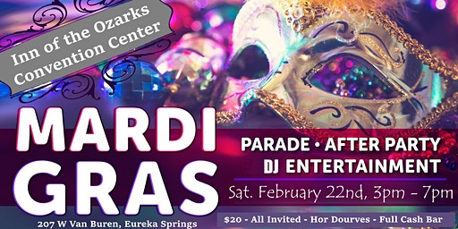 Parade After Party, Eureka Springs Mardi Gras 2020