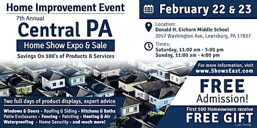 7th Annual Central PA Spring Home Show Expo