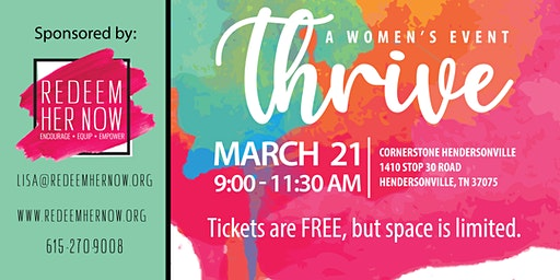 THRIVE - A Women's Event by Redeem Her Now