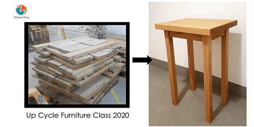 Up cycled oak furniture class (3 days)
