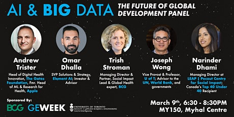 AI & Big Data: The Future of Global Development Panel at U of T tickets