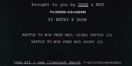 DOSE X MUD tickets