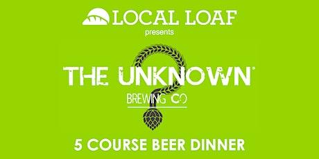Unknown Beer Dinner tickets