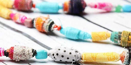 Scrap Fabric Necklace Making
