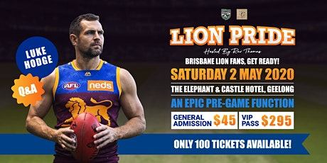 LION PRIDE  featuring Luke Hodge tickets