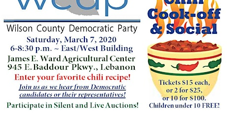 2020 WCDP Chili Cook-off and Social tickets