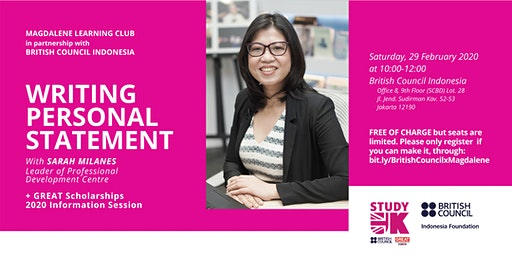 FREE Workshop: Writing Personal Statement