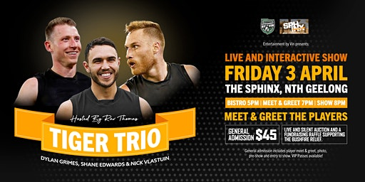 TIGER TRIO featuring Shane Edwards, Nick Vlastuin & Dylan Grimes