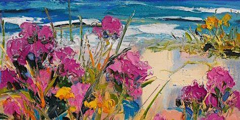 Paint Night in Croydon Park: Beach Flowers