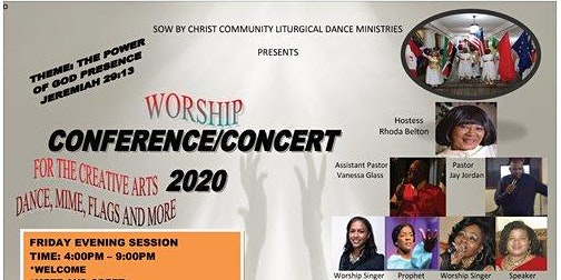 1 DAYS 2020 DANCE, MIME & FLAGS WORSHIP CONFERENCE REGISTRATION
