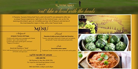 "Taste of Tuscany ~ ""eat like a local with the local"" tickets"