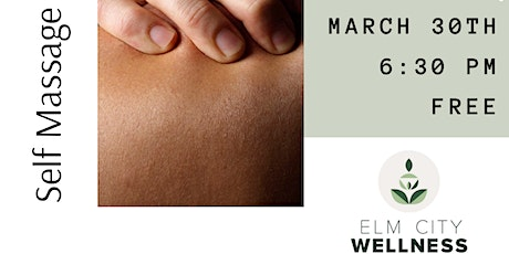 Self Care Massage Workshop: Self Massage with CBD tickets