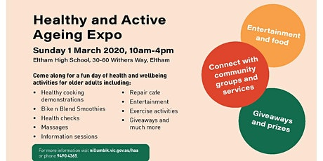 Shuttle Run-Banyule Community Health > Healthy and Active Ageing Expo tickets