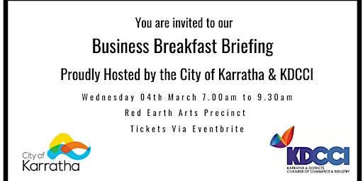 City of Karratha & KDCCI Breakfast Business Briefing