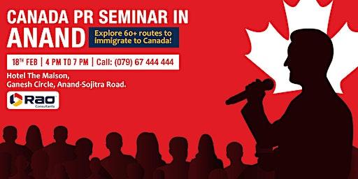 Free Canada PR Seminar@Anand