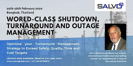 World-class Shutdown, Turnaround and Outage Management Masterclass tickets