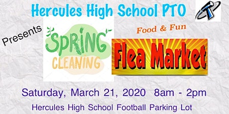 "HHS PTO Presents Spring Cleaning Flea Market ""Postponed"" tickets"