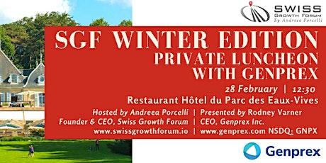 SGF Winter Edition 2020 Luncheon with Genprex in Geneva billets
