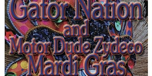 Gator Nation and Motordude Zydeco - Mardi Gras Dance Party