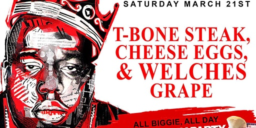 Sat. 03/21: T-Bone Steak, Cheese Eggs & Welches Grape Brunch at TaJ NYC.