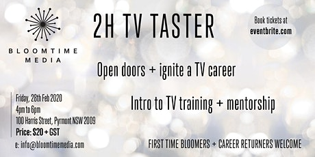 TV CAREERS 2020 - 2 hr Taster Take a slice of TV Training + Mentorship tickets