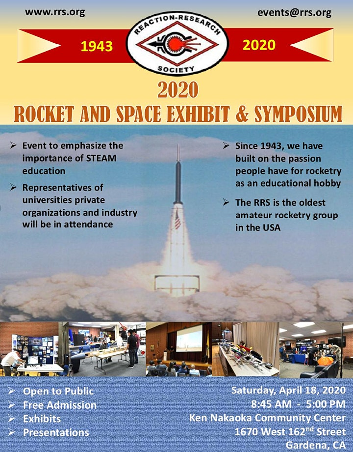 Postponed to Fall 2020 - RRS Rocket and Space Exhibit & Symposium image