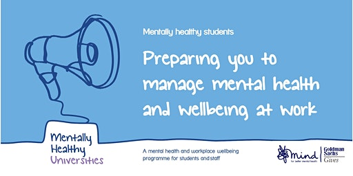 Mind - Preparing you to manage mental health and wellbeing at work