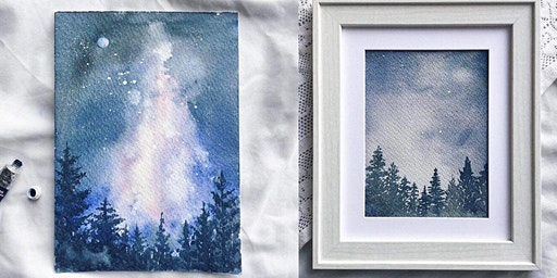 Watercolour for Beginners - Starry Night Landscape