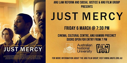 Movie screening and expert panel: 'Just Mercy' (2019)