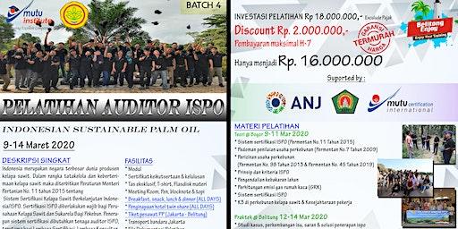 Pelatihan Auditor ISPO Batch 4 Mutu Institute, Maret 2020, April 2020