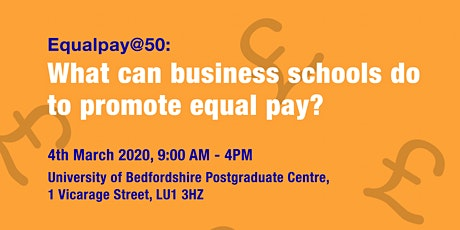 Equalpay@50:  What can business schools do to promote equal pay? tickets