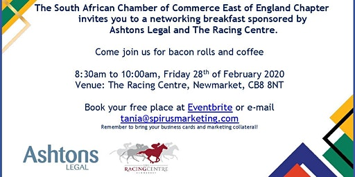 South African Chamber of Commerce - East of England Chapter February '20 Newmarket