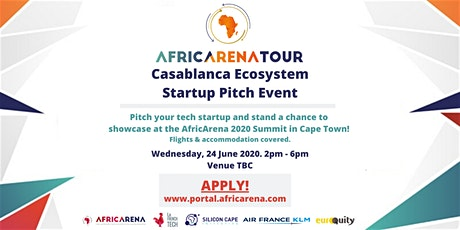 Casablanca Startup Pitch Event - AfricArena Tour 2020 tickets