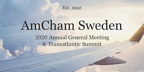 AmCham Sweden 2020 Annual General Meeting & Transatlantic Summit tickets