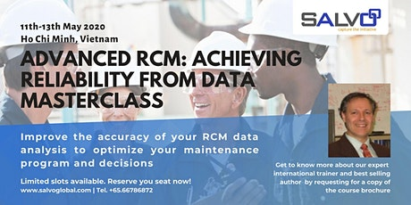 Advanced RCM: Achieving Reliability from Data Masterclass tickets