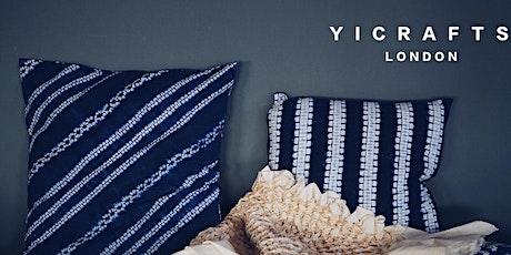 Indigo Shibori cushion cover workshop tickets