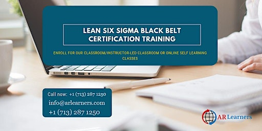 LSSBB Certification Training in Brownsville, TX, USA