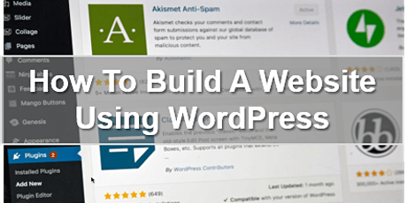 How To Build A Website Using WordPress tickets