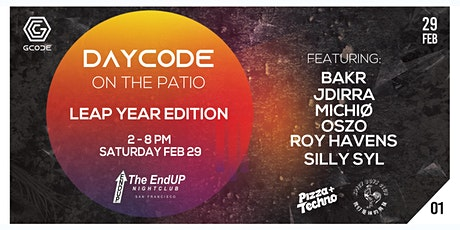 DayCode: Patio Party (ft. Pizza & Techno and Spicy Boys Club) tickets