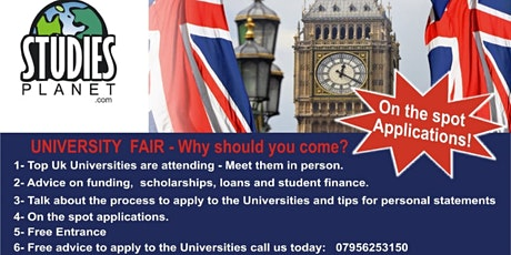 University and Scholarships fair in London!!! tickets